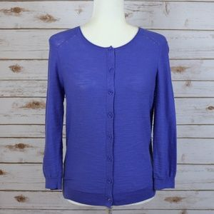 LOFT Periwinkle Blue Light Cardigan Sweater XS